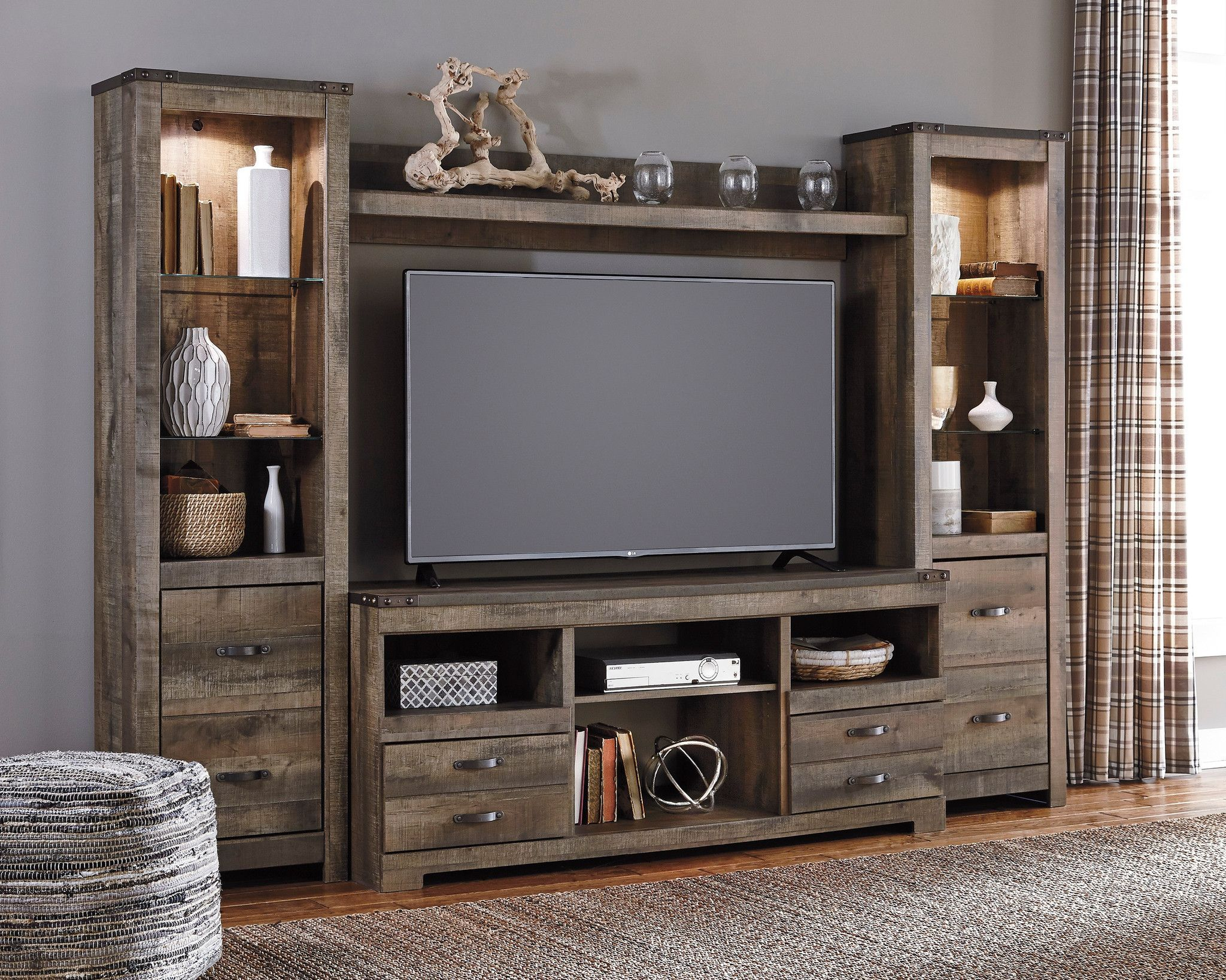 wooden wall from room white with finish combinations entertainment media hulsta under living tv fireplace wood elegant console electric unit enclosed center