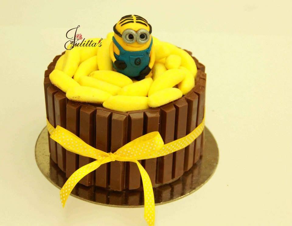 Minions Favourite Food Bananas Kit Kat Cake Kit Kat