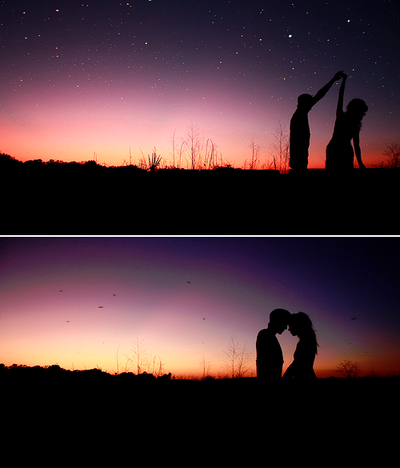 dancing in a field at sunset with the car lights on I would literally die. Best dream
