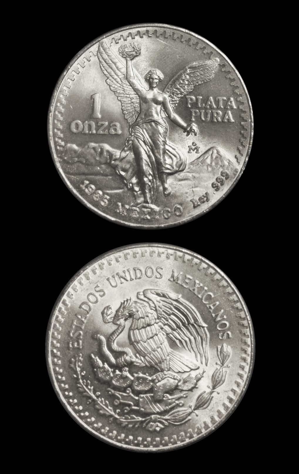 1985 – Mexican 1 Onza Silver Libertad - kmscoin.com