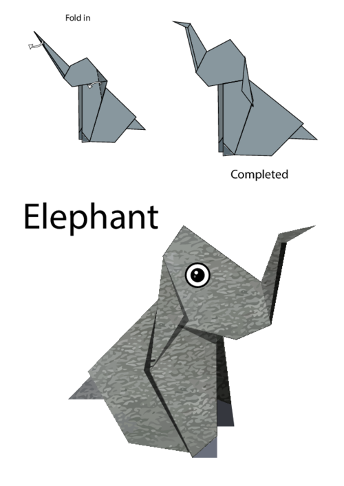 Origami Instructions Craft Activities Puppet What Castle Is Complete Without A Heard Of Majestic Elephants Print This Free Easy