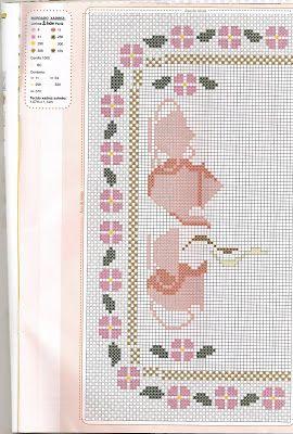 Família e Arte: mais bordados xadres com croche