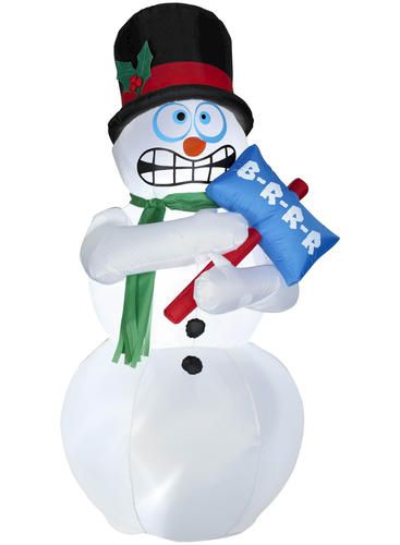 animated christmas outdoor airblown shivering snowman at menards snowman wallpaper christmas yard decorations