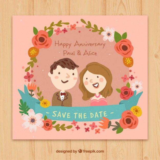 Kivoja kukkia myllymuksut Pinterest Happy anniversary, Hand - fresh invitation banner vector