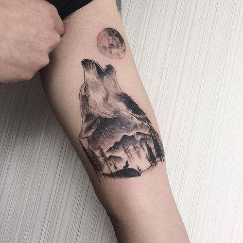 Los 50 Mejores Tatuajes De Lobos Y Sus Significados Tatuajes