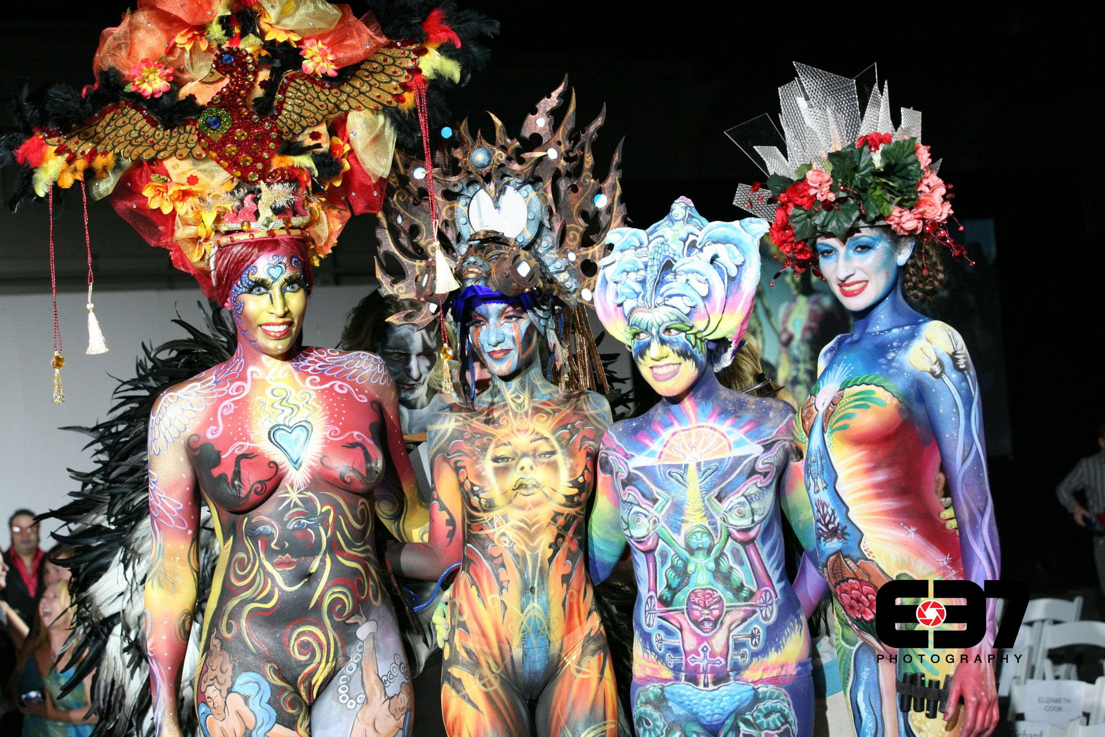 from Kyler girls in body painting contest