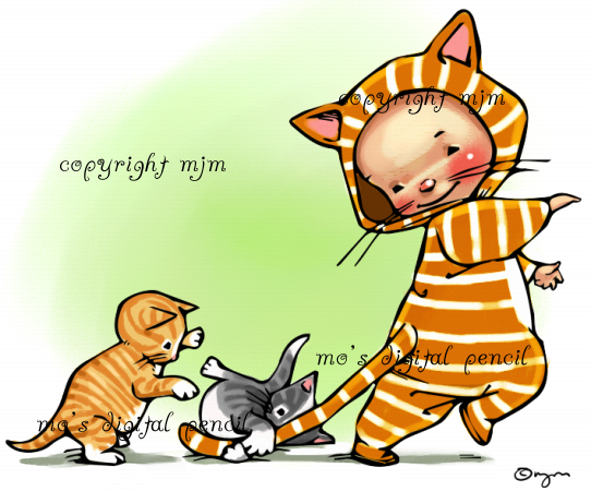 Three Little Kittens Little Kittens Digital Stamps Halloween Drawings