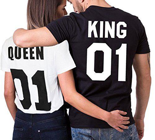 Reine du roi ensemble de couples assortis sous vêtements de