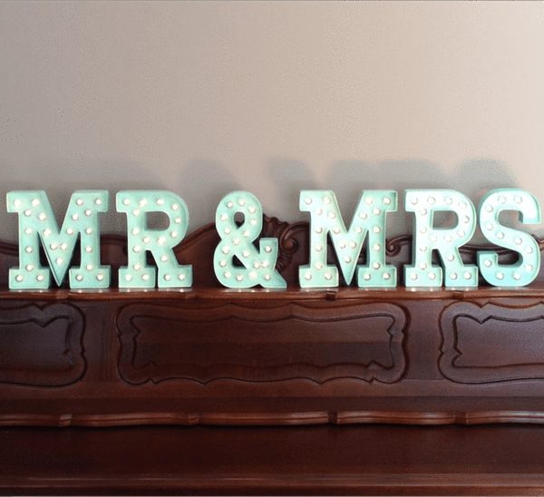 hire our mint green marquee letters for your melbourne wedding