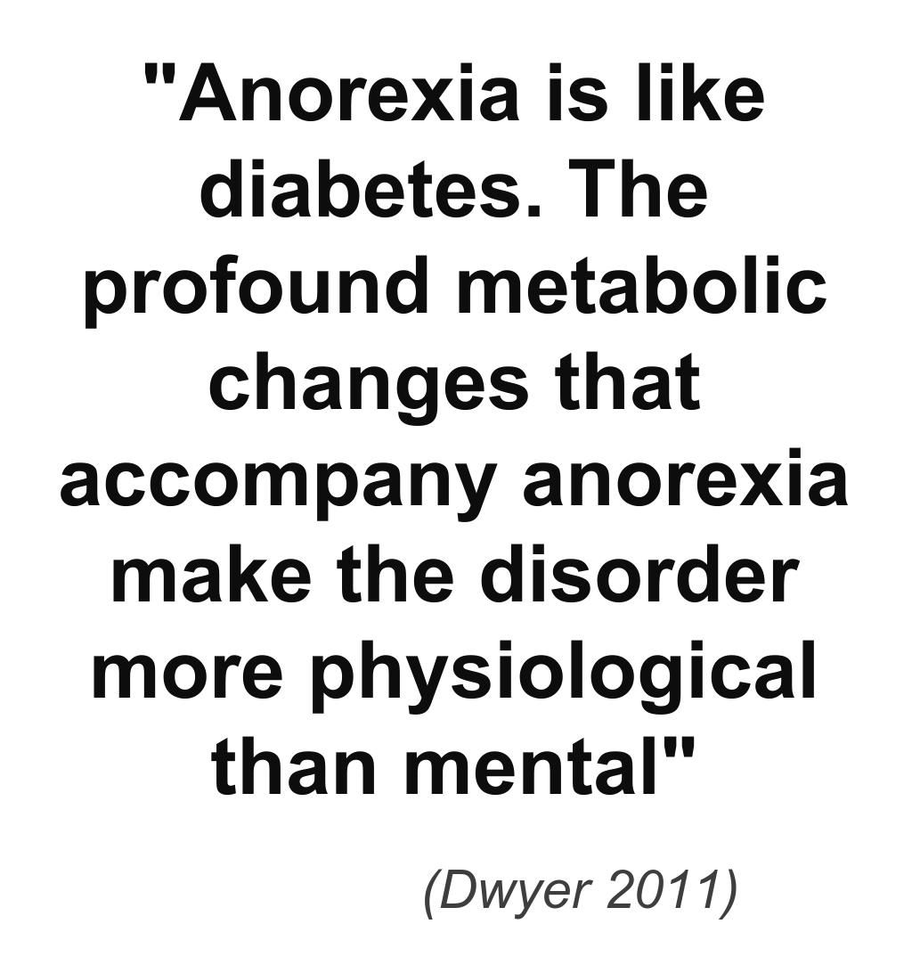 Anorexia is both a physical and mental illness. ~ Too