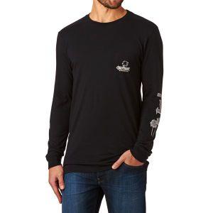 Rhythm Long Sleeve T-shirts - Rhythm Diner Long Sleeve T-shirt - Black