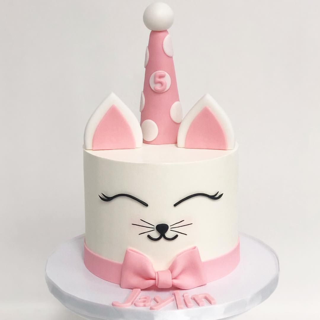 He Cutest Kitty Cat Cake By Sweet Die With Images Cat Cake