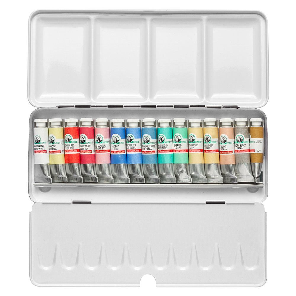 Old Holland Watercolour Paint Set 15x6ml Tubes In Metal Box