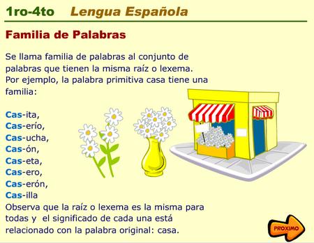 Escuela Bloguera Familia De Palabras Familia De Palabras Palabras Imágenes De Familia