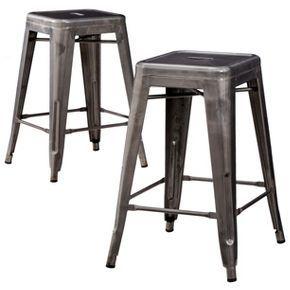 Amazing Carlisle 24 Counter Stool Metal Set Of 2 New House Theyellowbook Wood Chair Design Ideas Theyellowbookinfo