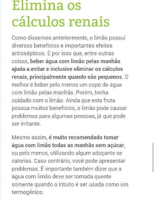Limão  para cálculos renais