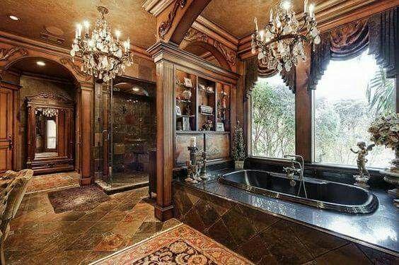 Pin de A Higgins en Home Decor Pinterest Baños, Baño y Ideas para - baos lujosos