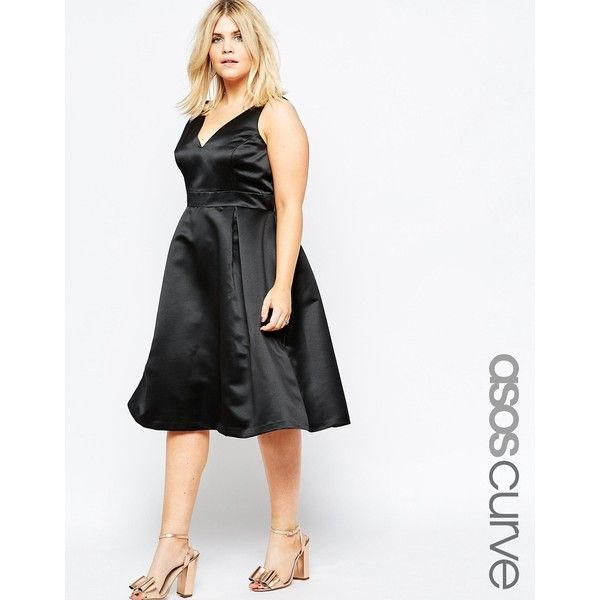 739d73b93a25 Satin Dkk Dress Prom Polyvore Curve On Liked 205 ❤ Asos Featuring 5nxaFw