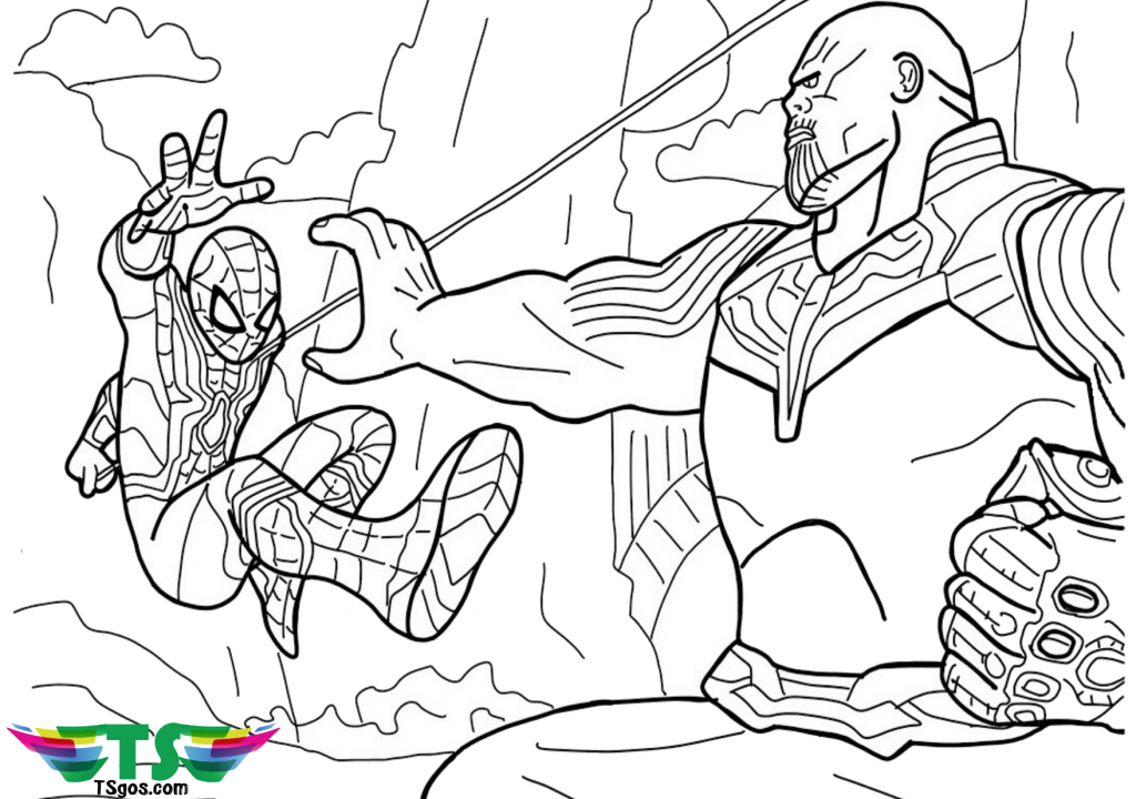 Free Download To Print Spiderman Vs Thanos Coloring Pages In 2020 Avengers Coloring Pages Avengers Coloring Spiderman Coloring