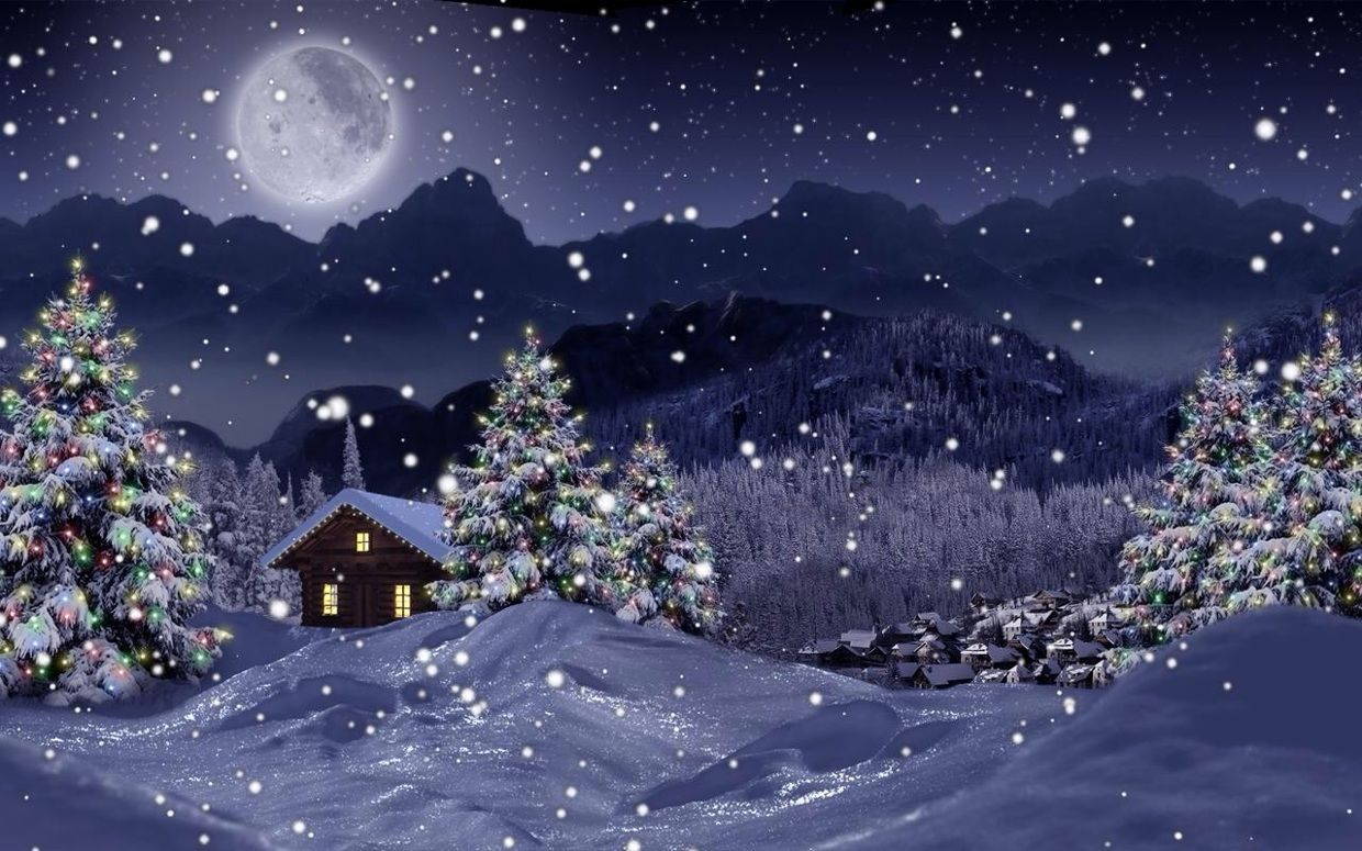 Scaletowidth 1240 775 Christmas Live Wallpaper Free Christmas Wallpaper Downloads Christmas Landscape