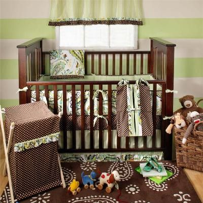 paisley splash lime 3pc baby bedding set crib bedding sets