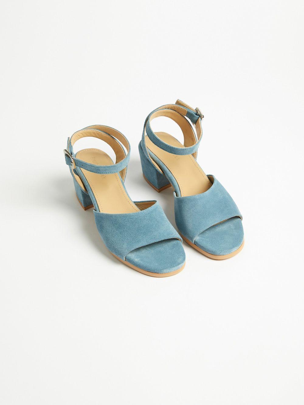 The Medina Heel Sandal in Dark teal | Dark teal, Heels, Teal