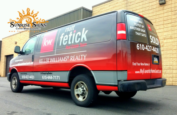 Vehicle Wrap Branding For Delaware County Realtor Car Wrap Vehicles Chevy Express