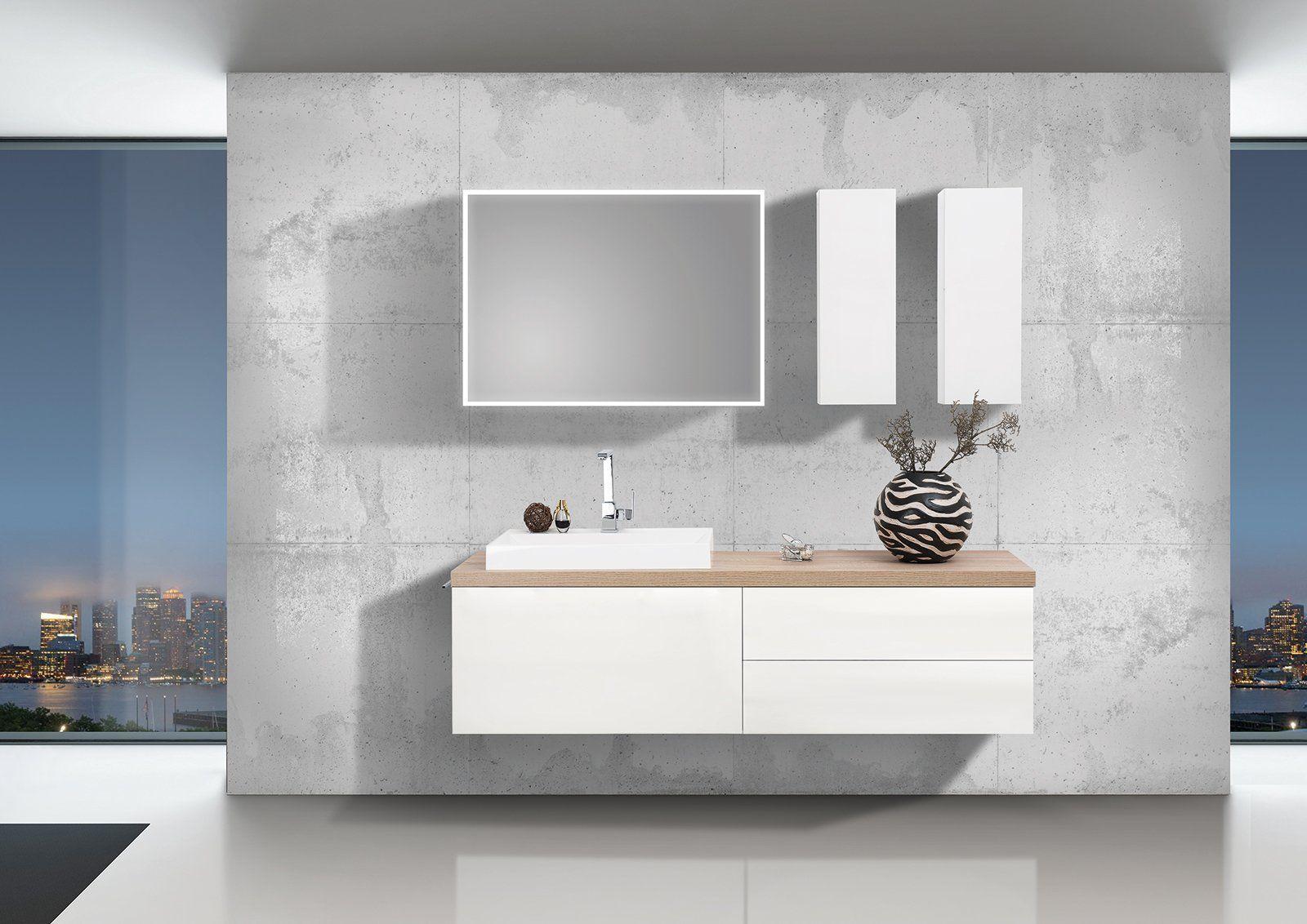 Badezimmer eitelkeiten 60 einzel waschbecken design badmöbel set luxor grifflos cm  waschtischplatte nach maß