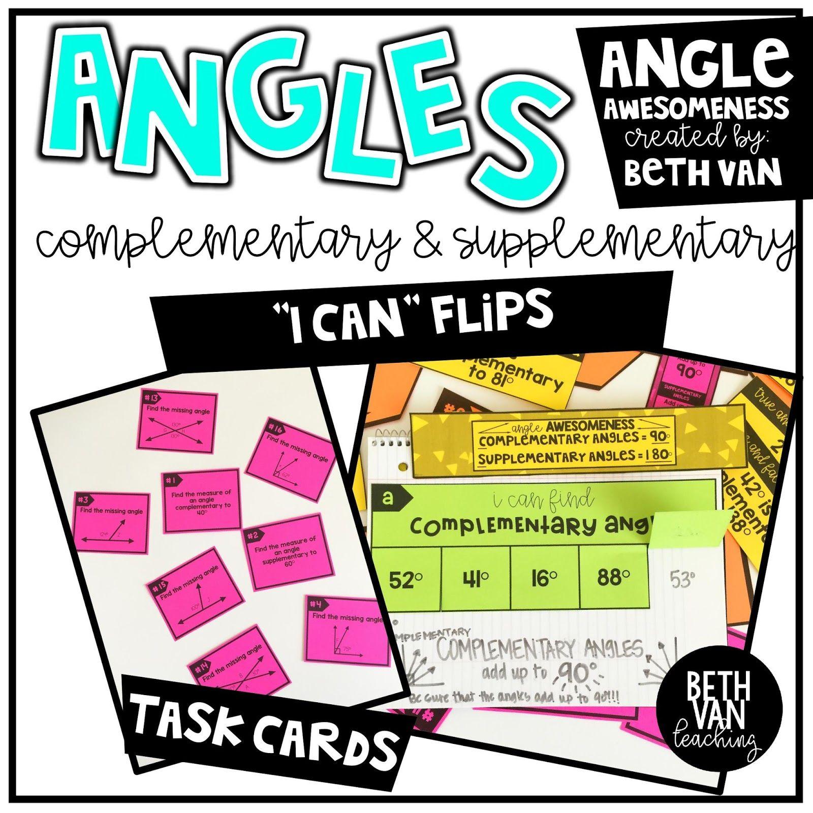 Any Angle You Take Supplementary angles, Angles