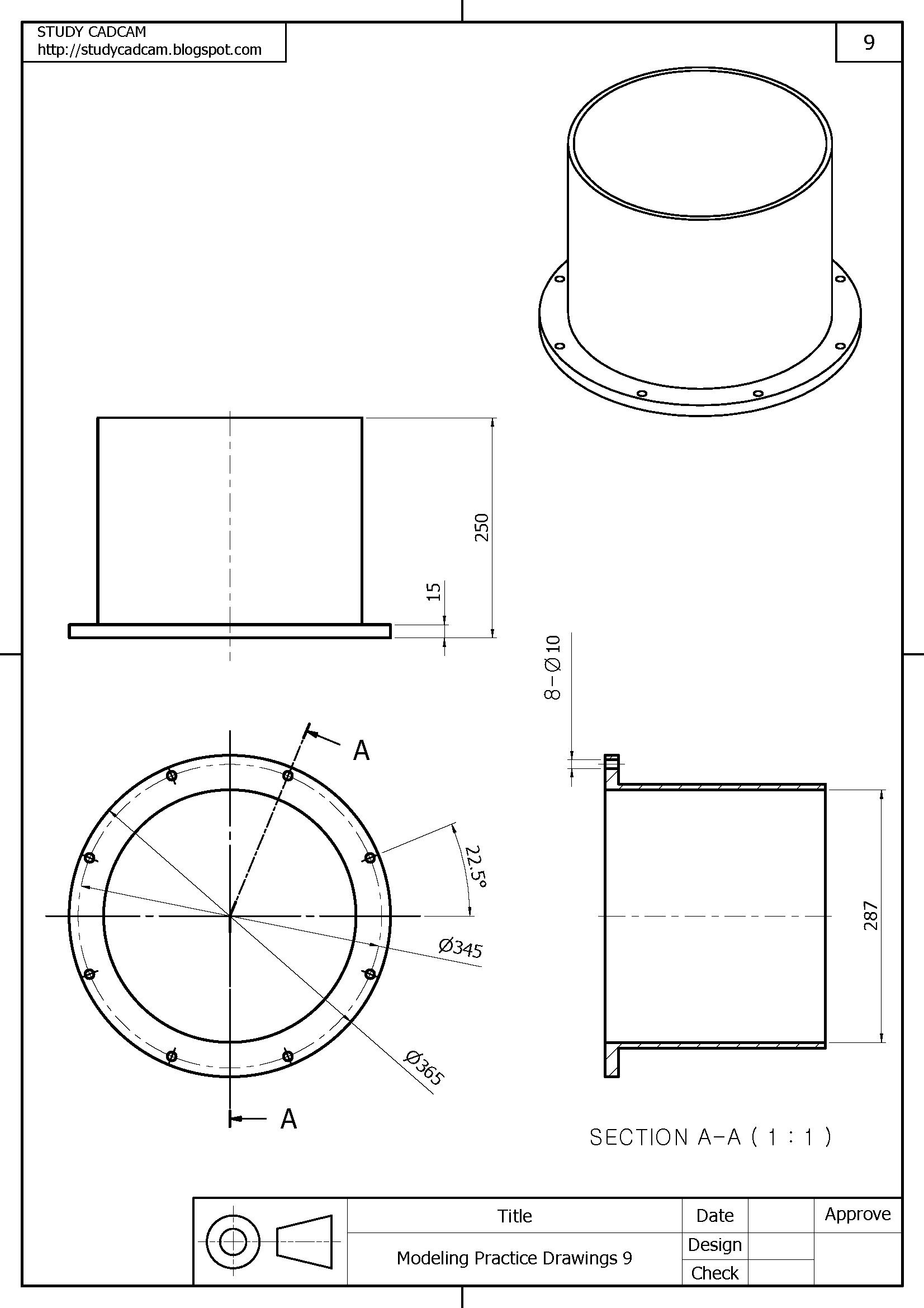 Autocad mechanical drawing exercises pdf