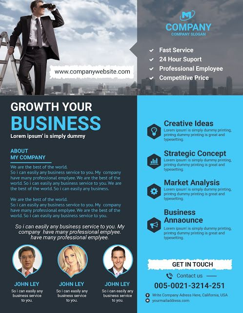 BOGRA Graphic Outsourcing Latest \ Modern Corporate Flyer - corporate flyer template