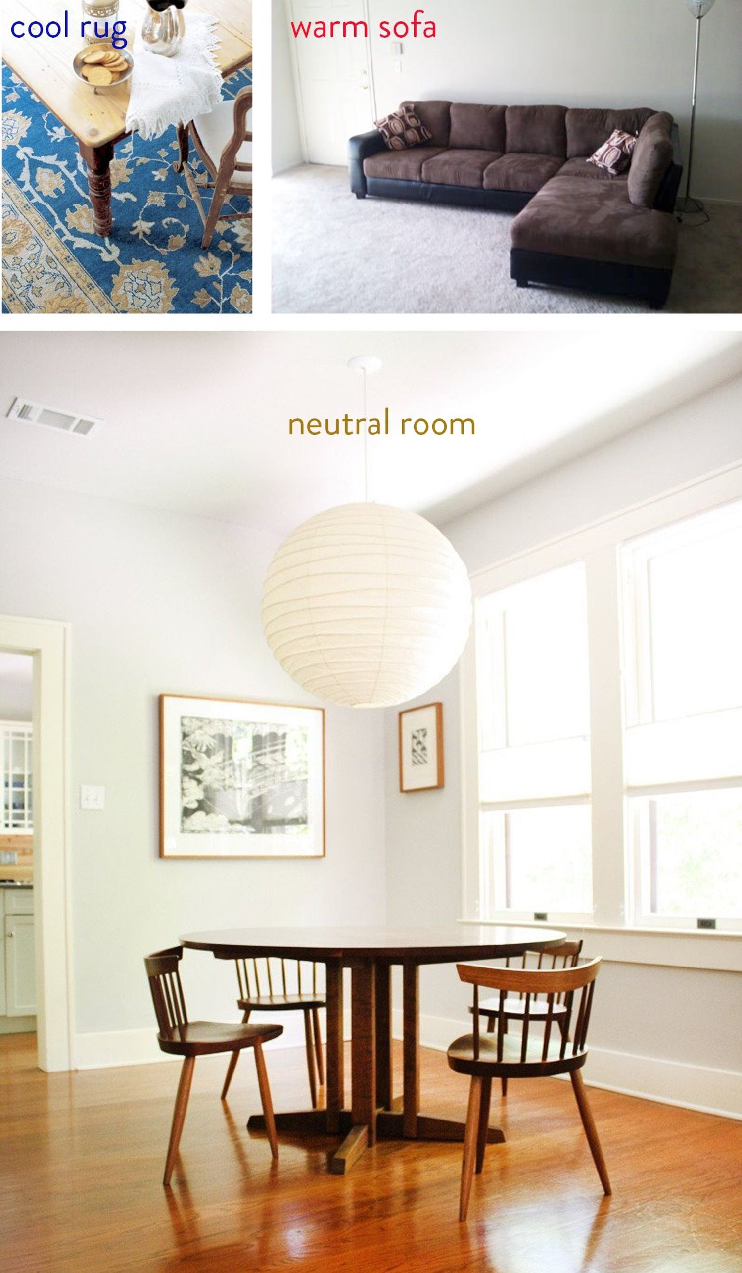 How To Work With Warm & Cool Colors | Warm colors, Living rooms and ...