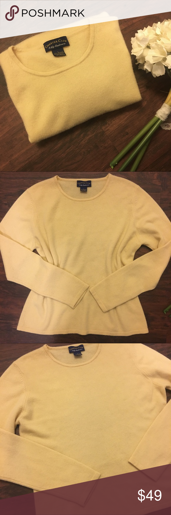 Pure Cashmere Sweater Creamy French Vanilla Size L | French ...