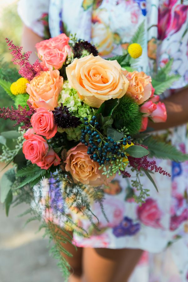Colorful Bohemian Wedding In South Lake Tahoe Spring Wedding Flowers Wedding Flowers Rustic Wedding Flowers