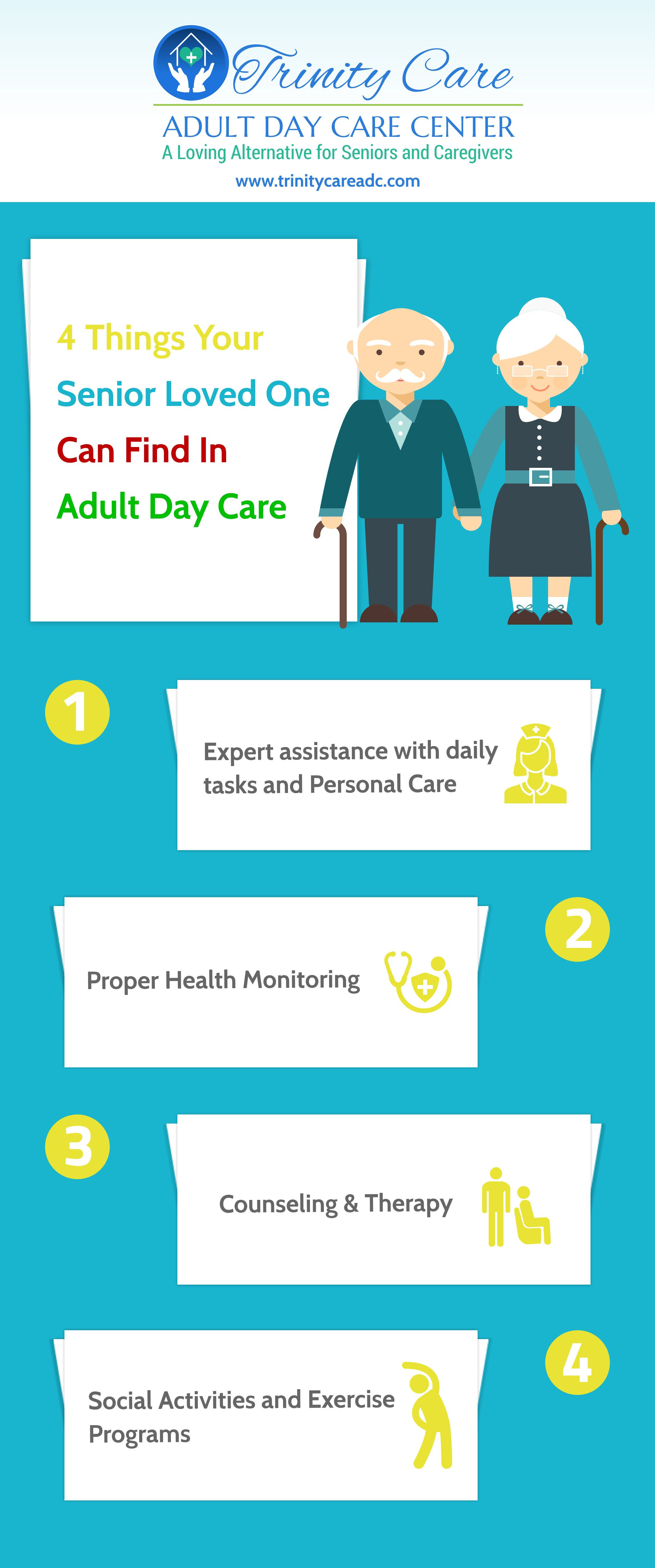 4 Things Your Senior Loved One Can Find In Adult Day Care