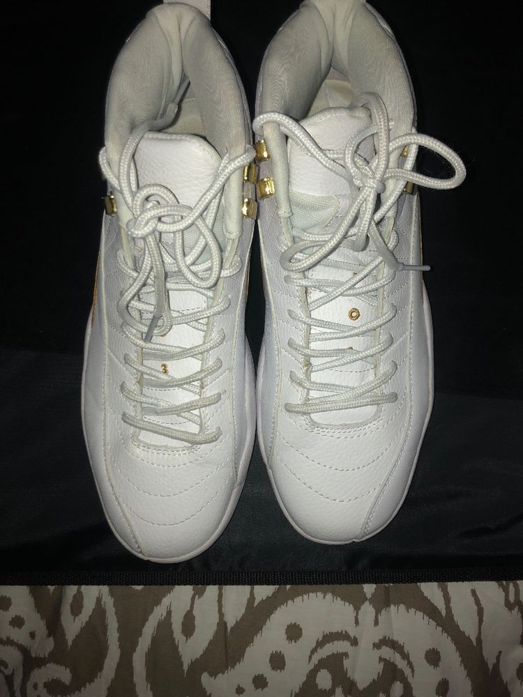 25071034b78878 Nike Ovo Air Jordan 12 White And Gold-Size 9.5 Pre-owned But In Good  Condition!  fashion  clothing  shoes  accessories  mensshoes  athleticshoes  (ebay link)