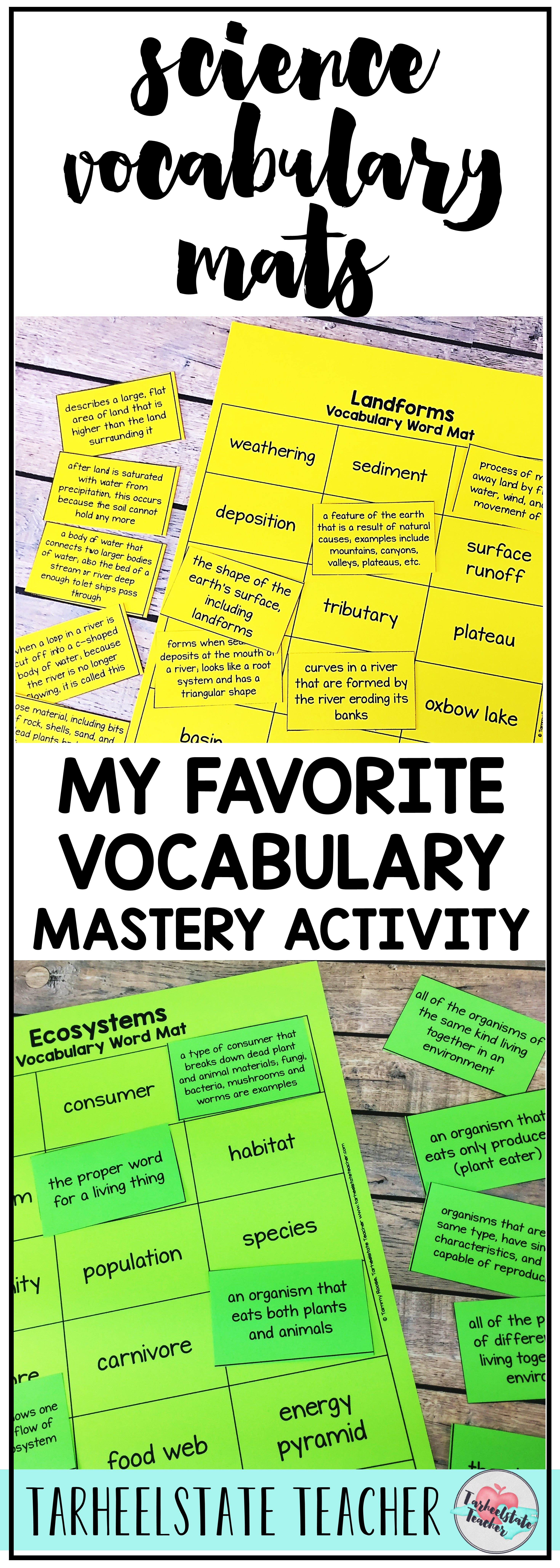 Science Vocabulary Strategies and Hands On Science Vocabulary ...