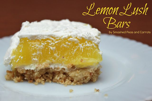 Lemon Lush Bars from Smashed Peas and Carrots