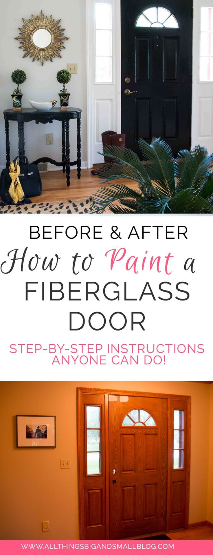 How to paint a fiberglass door painted front doors