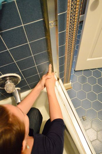 How To Remove An Old Sliding Shower Door | Young H
