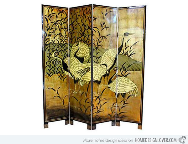 15 Asian Themed Screens And Wall Dividers Home Design Lover Divider Wall Room Divider Oriental Room Asian screen room dividers