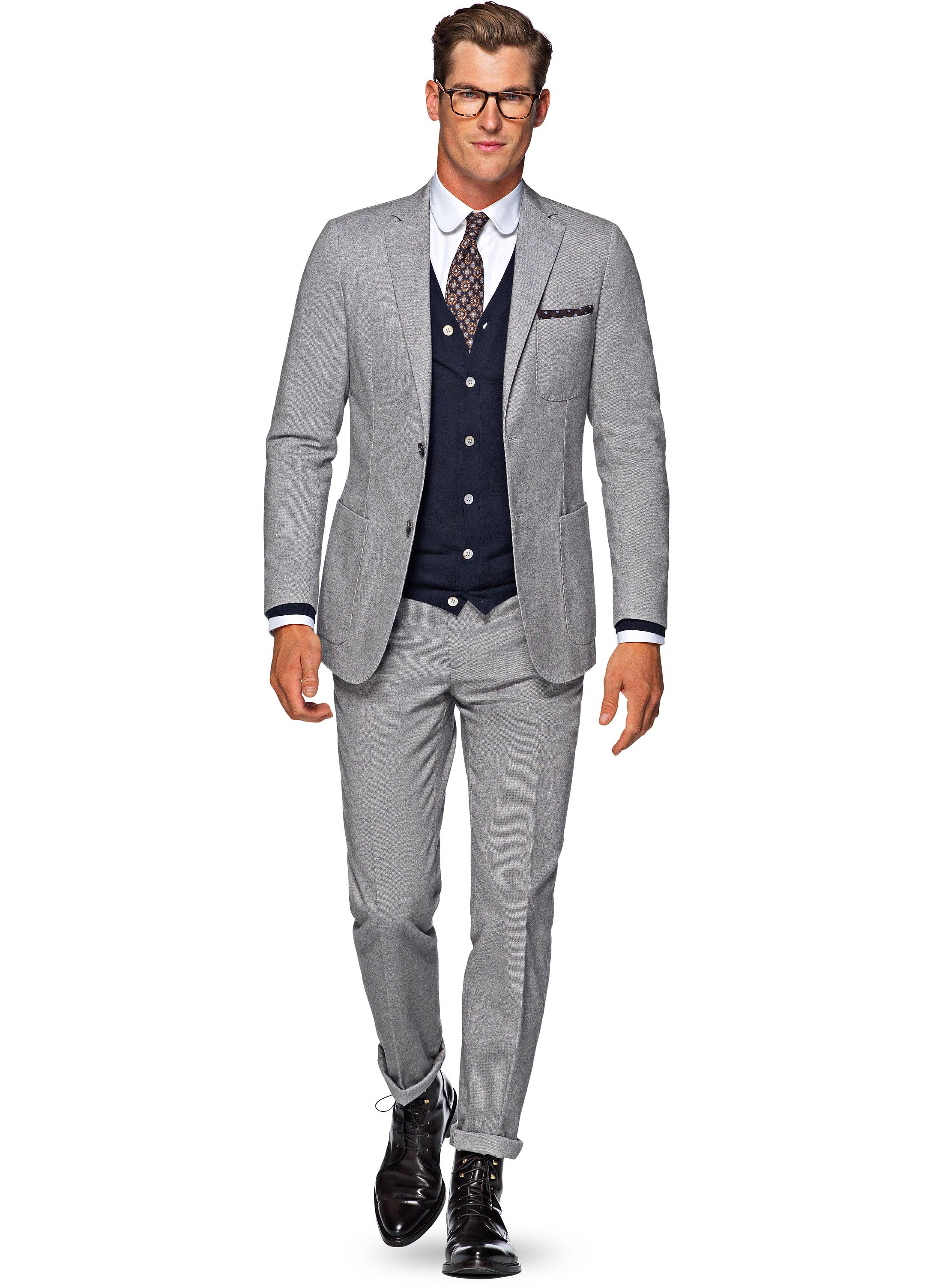 Suit Grey Plain Copenhagen P4740i | Suitsupply Online Store ...