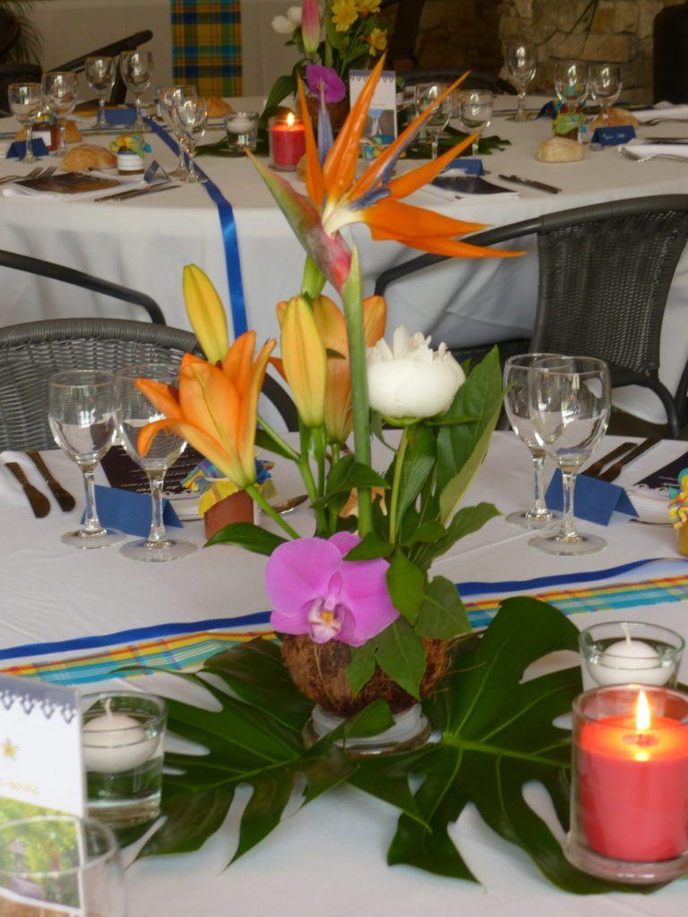 Mariages Et Jolies Fetes Fleurs Papiers Deco Centre De Table