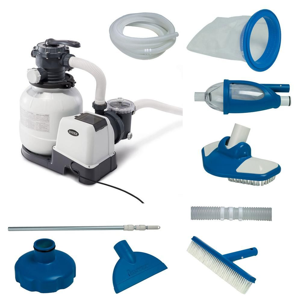 Intex 2100 Gph Above Ground Pool 60 Sq Ft Sand Filter Pump With