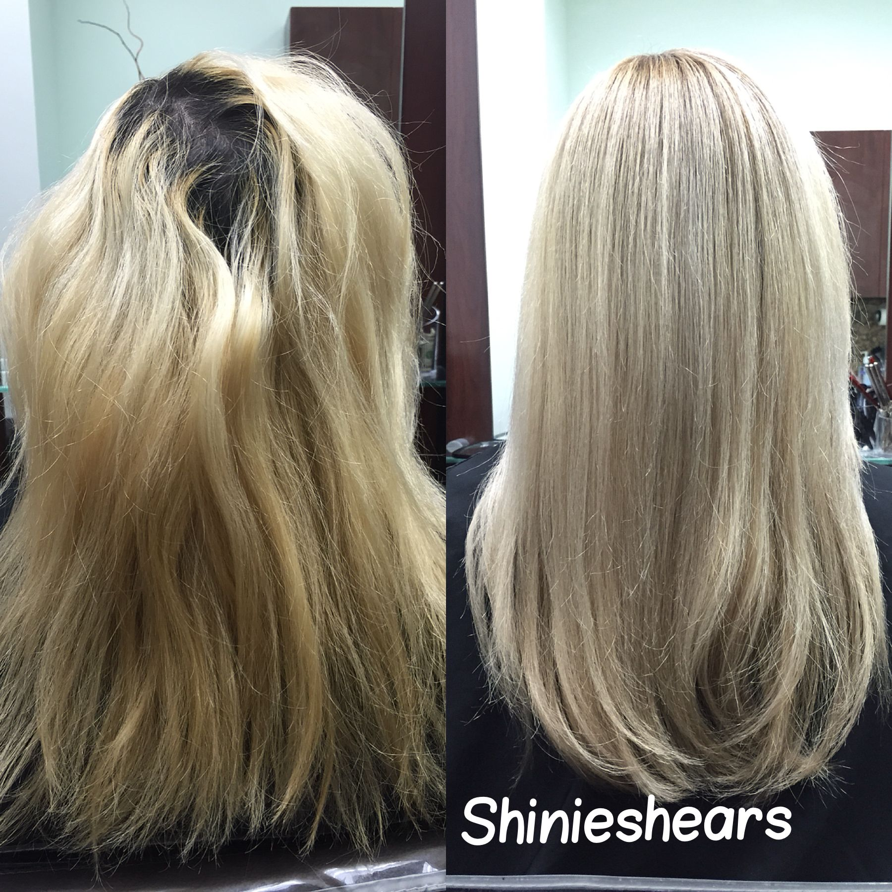 Color Correction With Redken Shades Eq Ashy Blonde Tones
