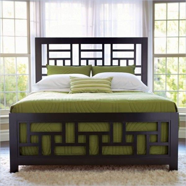 Image Of Lovable Broyhill Bedroom Furniture Hardware Including Custom Wood Bed Frames With Green Single Duvet Cover Also Double Hung Window Over Black