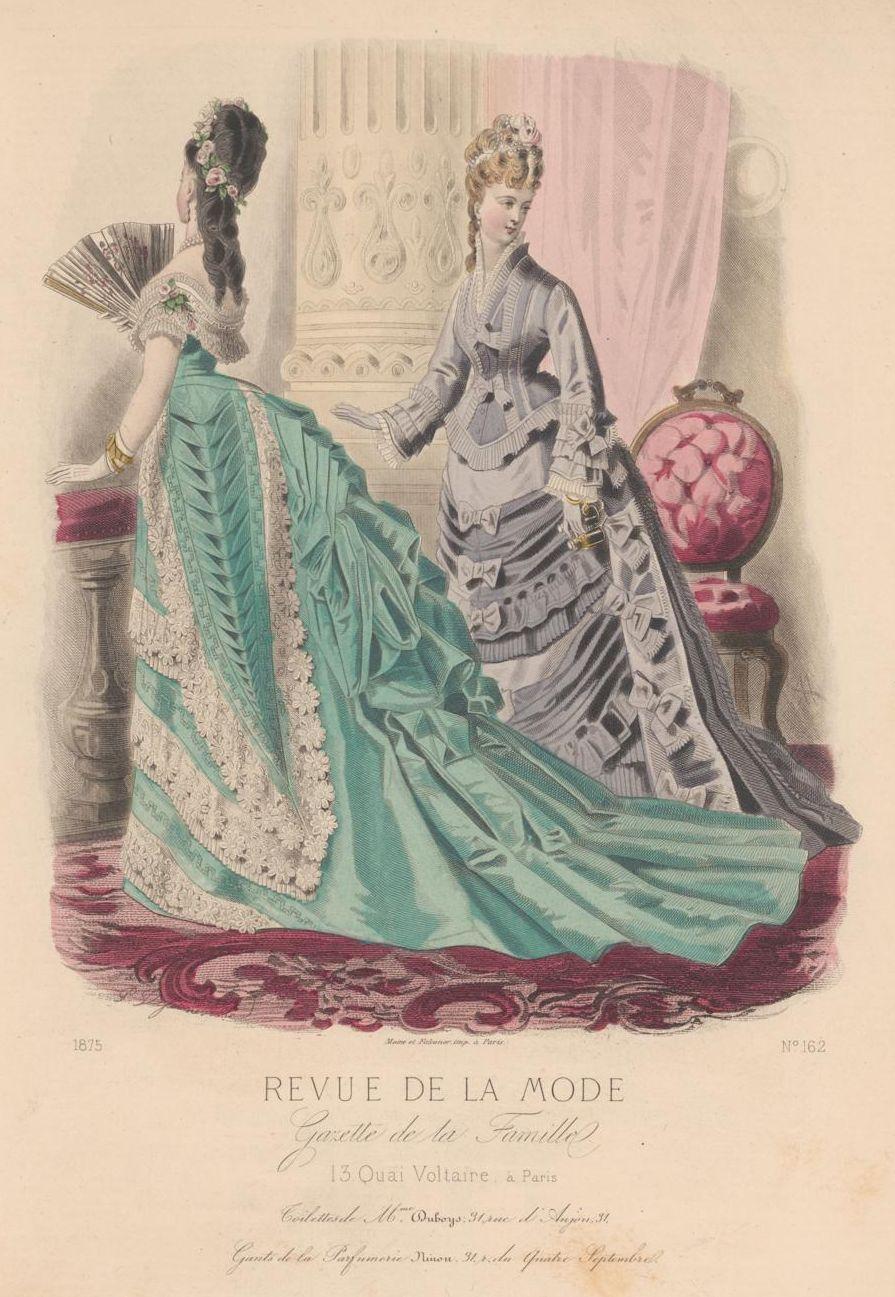 1875 Revue de la Mode : Gazette de la Famille
