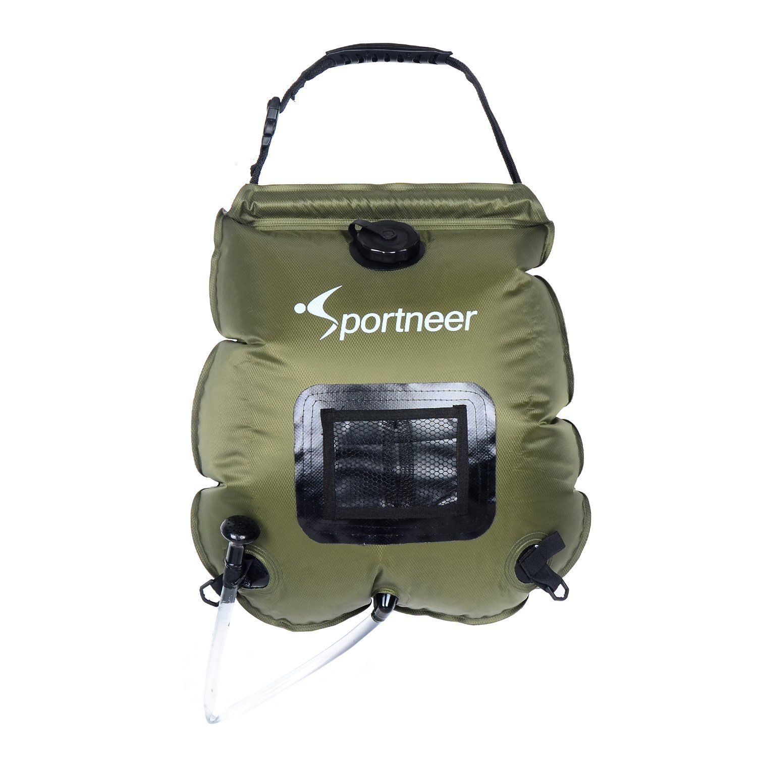Sportneer Solar Camping Shower Bag 5 Gallon With Removable Hose And On Off Switch Able Head Sports Outdoors