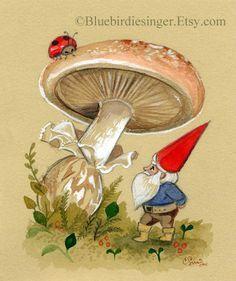 vintage print childrens book gnomes\ - Google Search