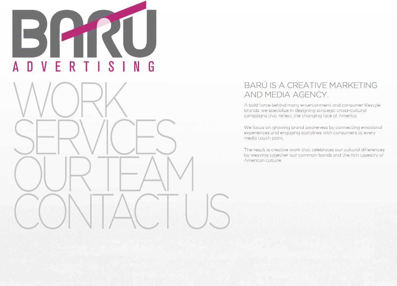 BARU Advertising. Los Angeles Latino Advertising Agency.